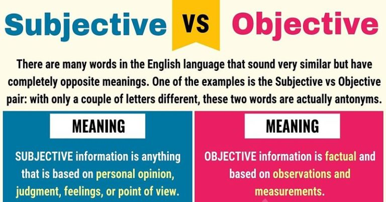 Objective v Subjective