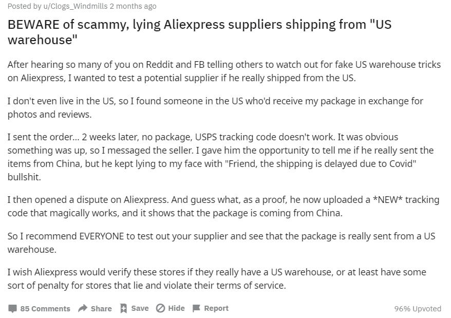 dropship supplier issues