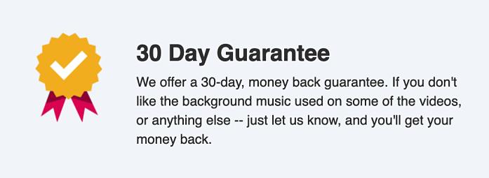 ecom foundations money back guarantee