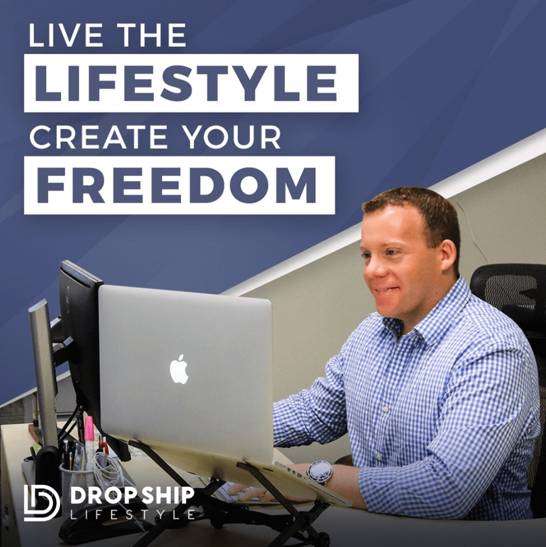 live the lifestyle create your freedom instagram post from dropship lifestyle