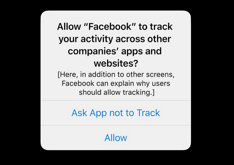 IOS 14 opt in option for facebook data tracking