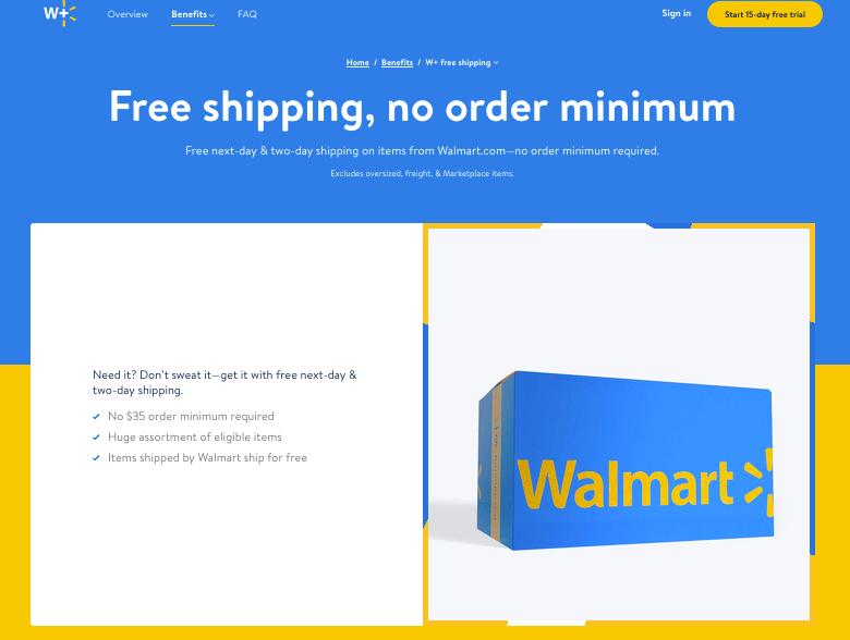 walmarts 2 day free shipping platform