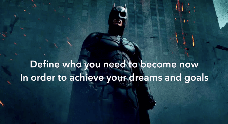 jon mac business mindset quote with an image of batman