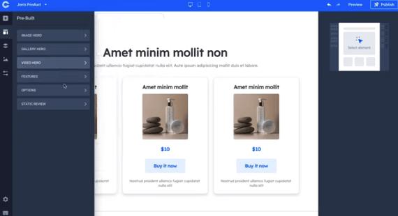 builder menu on commercehq taught by jon mac