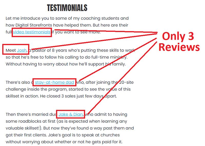 Digital Storefronts Testimonials