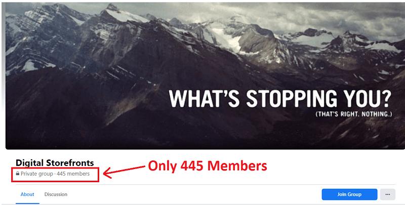 Digital Storefronts Facebook Group