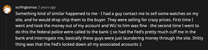 scammer watch supplier story on reddit post