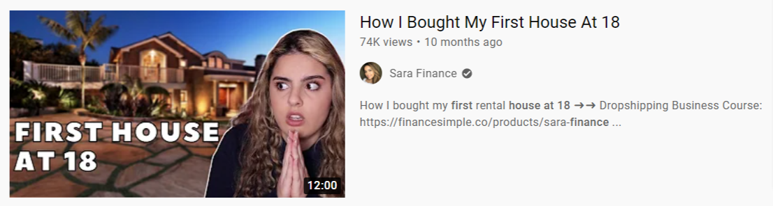 sarah finance course review first house